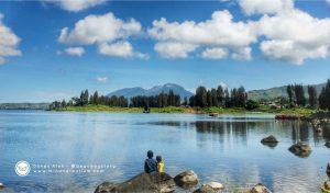 Menjenguk Indahnya Panorama Danau Diateh di Solok.