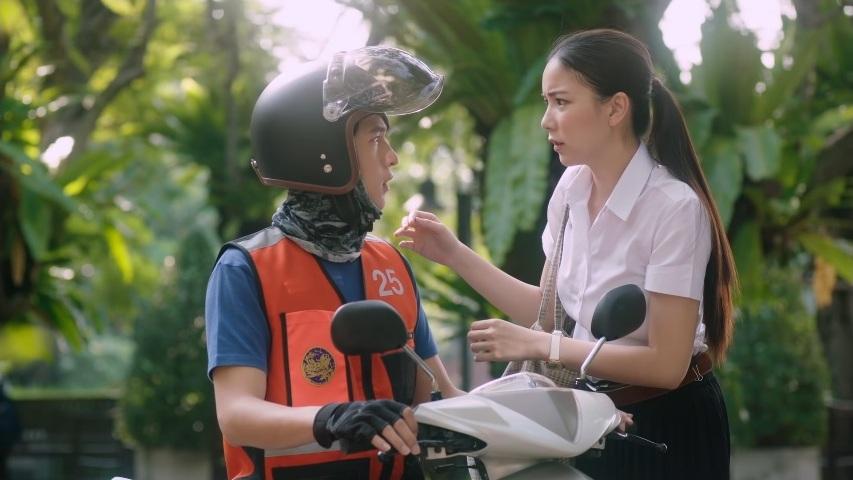 Girl Next Room Motorbike Baby